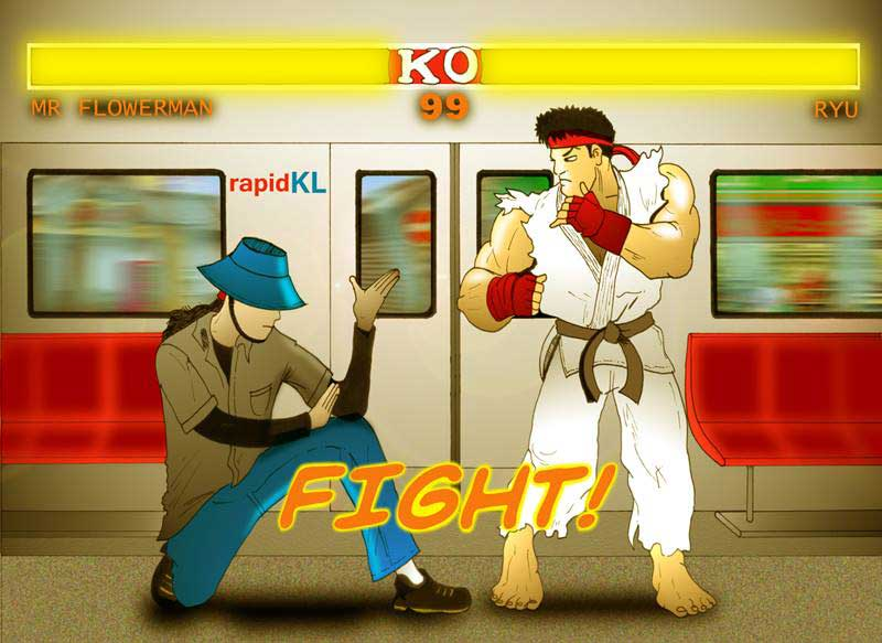 MrFlowerman VS Ryu