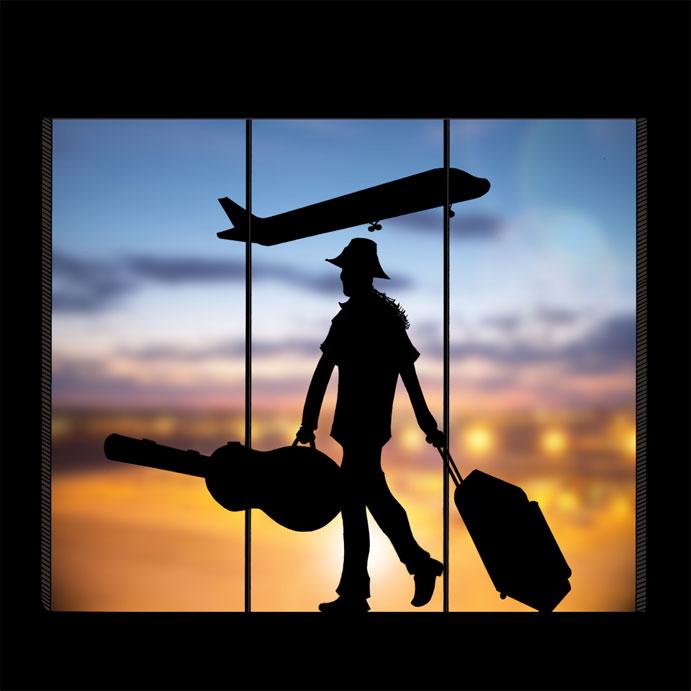 Catatan Pengembaraan Seorang Flowerman Shah Ibrahim Airport Silhouette
