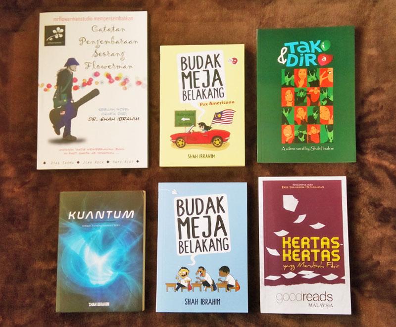 Perbandingan Relatif Saiz 6 Buku Shah Ibrahim TheMrFlowerman