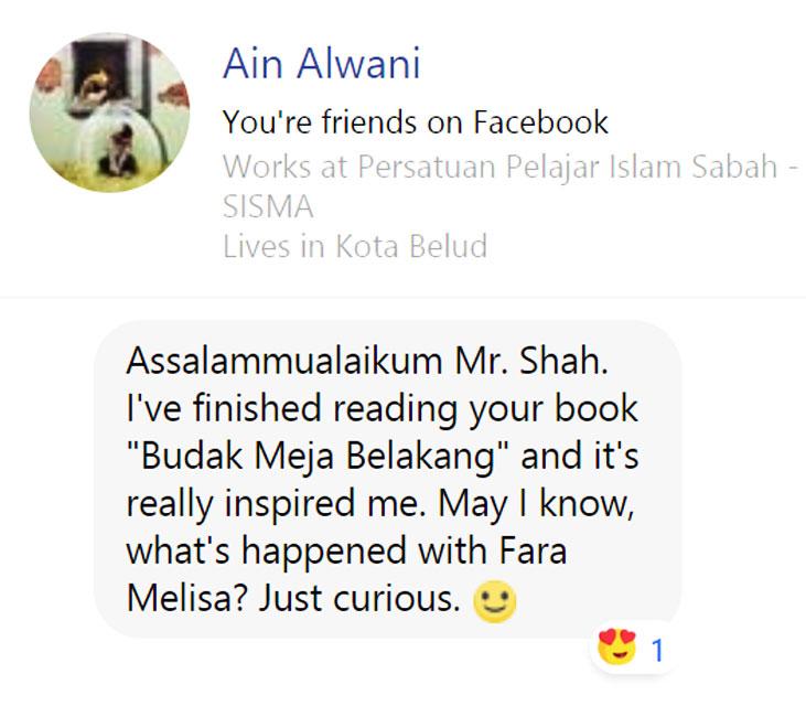 Ain Alwani Ulasan Budak Meja Belakang blog csf