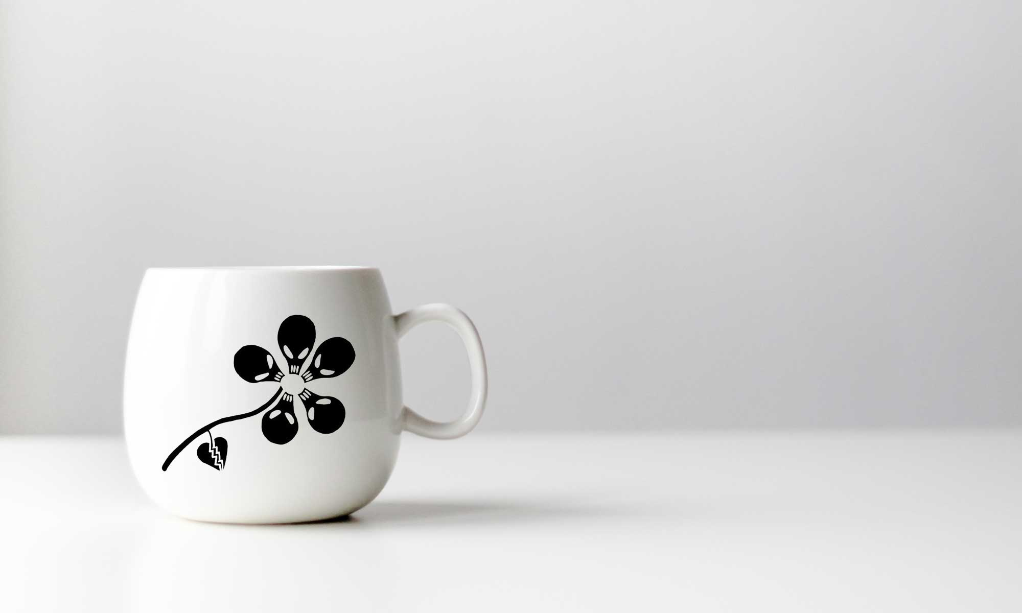 Banner Blog MrFlowerman Studio Logo on Mug