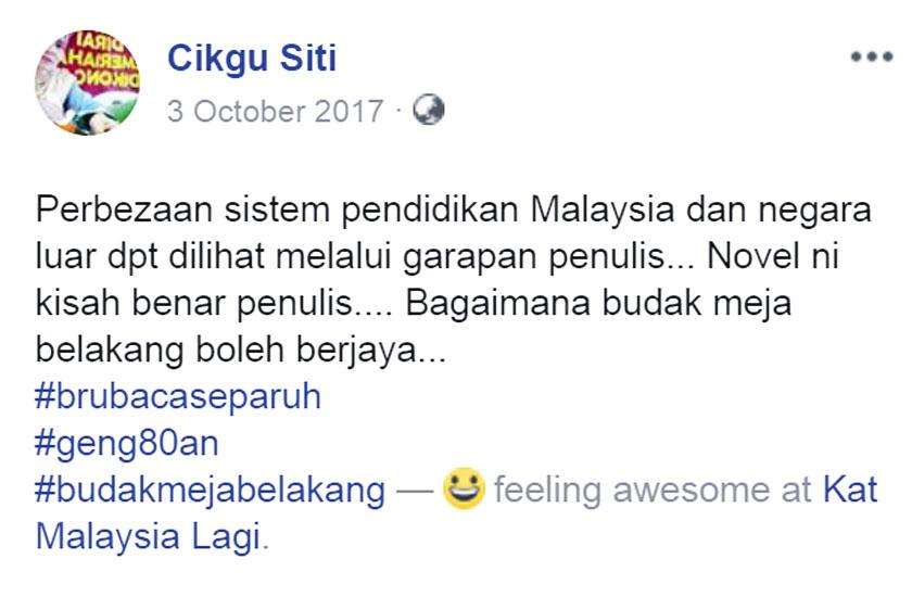 Cikgu Siti Ulasan Budak Meja Belakang blog csf
