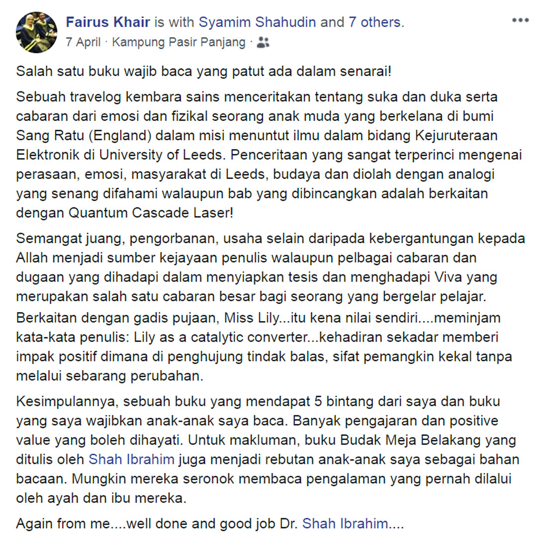 Fairus Khair Ulasan Buku Kuantum blog csf
