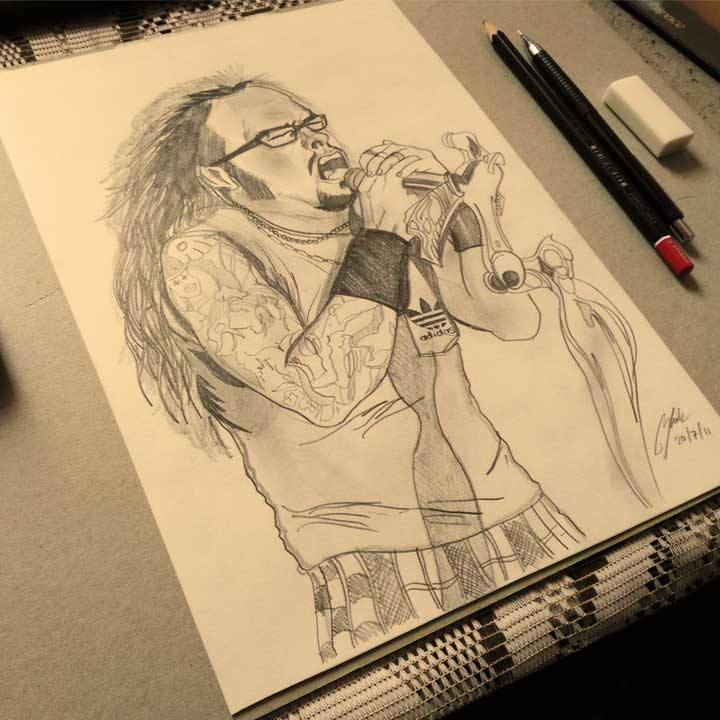 Jonathan Davis Pencil Sketch by Shah Ibrahim