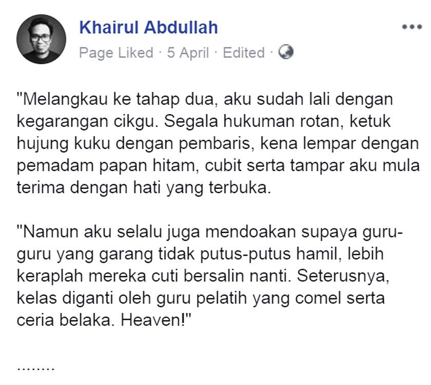 Khairul Abdullah Ulasan Budak Meja Belakang blog csf Part 1