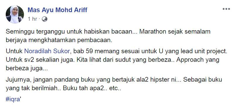 Mas Ayu Mohd Ariff Ulasan Budak Meja Belakang Pax Americana blog csf