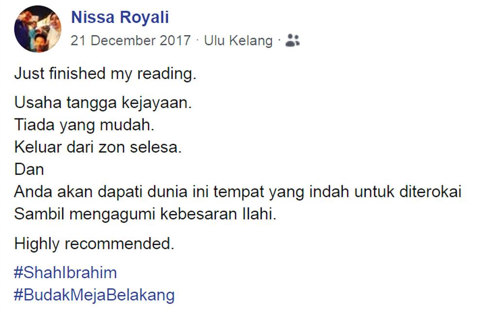 Nissa Royali Ulasan Budak Meja Belakang blog csf