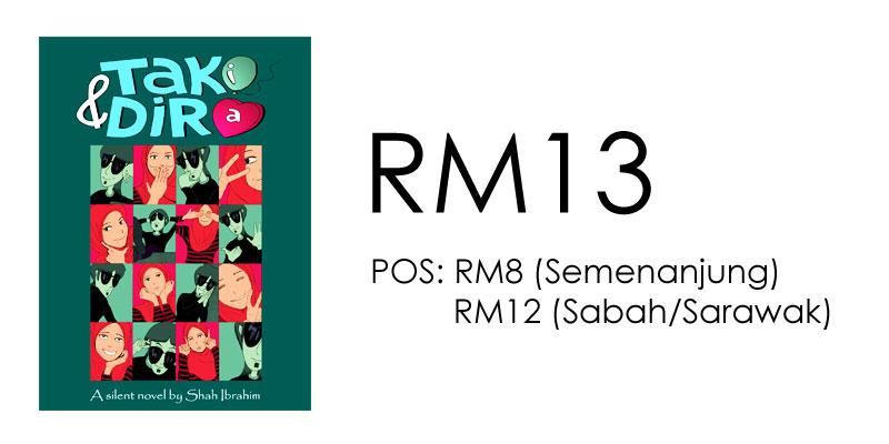 Harga Buku Taki & Dira Shah Ibrahim RM13