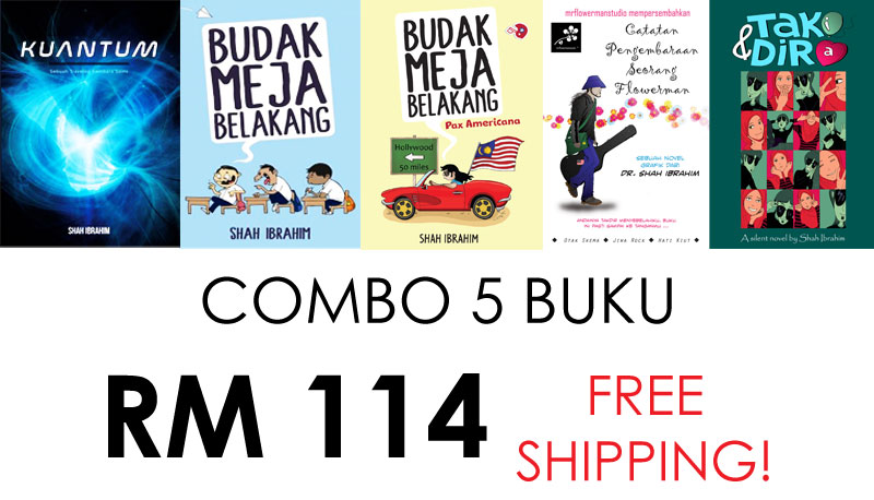 Pakej Combo 5 Buku MrFlowerman Studio All Lined Up RM114