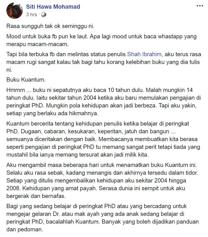 Siti Hawa Mohamad Ulasan Buku Kuantum Blog csf
