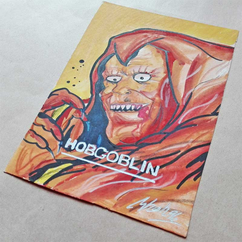 Poster Colour Art Hobgoblin Fleer Ultra 1996 Blog Coretan Sang Flowerman